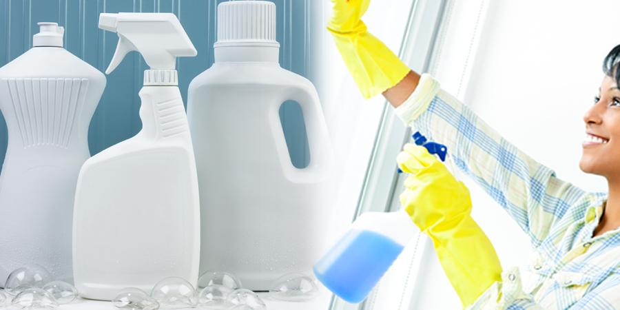 Etiquetas adhesivas para productos de limpieza y droguería