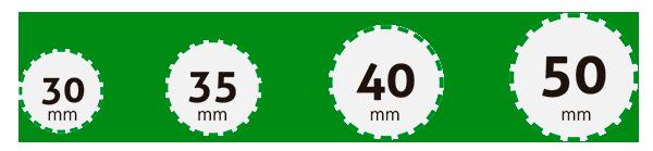 Diámetros de tubos de plástico