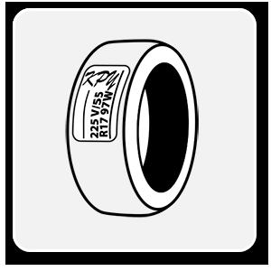 Etiquetas adhesivas para neumáticos